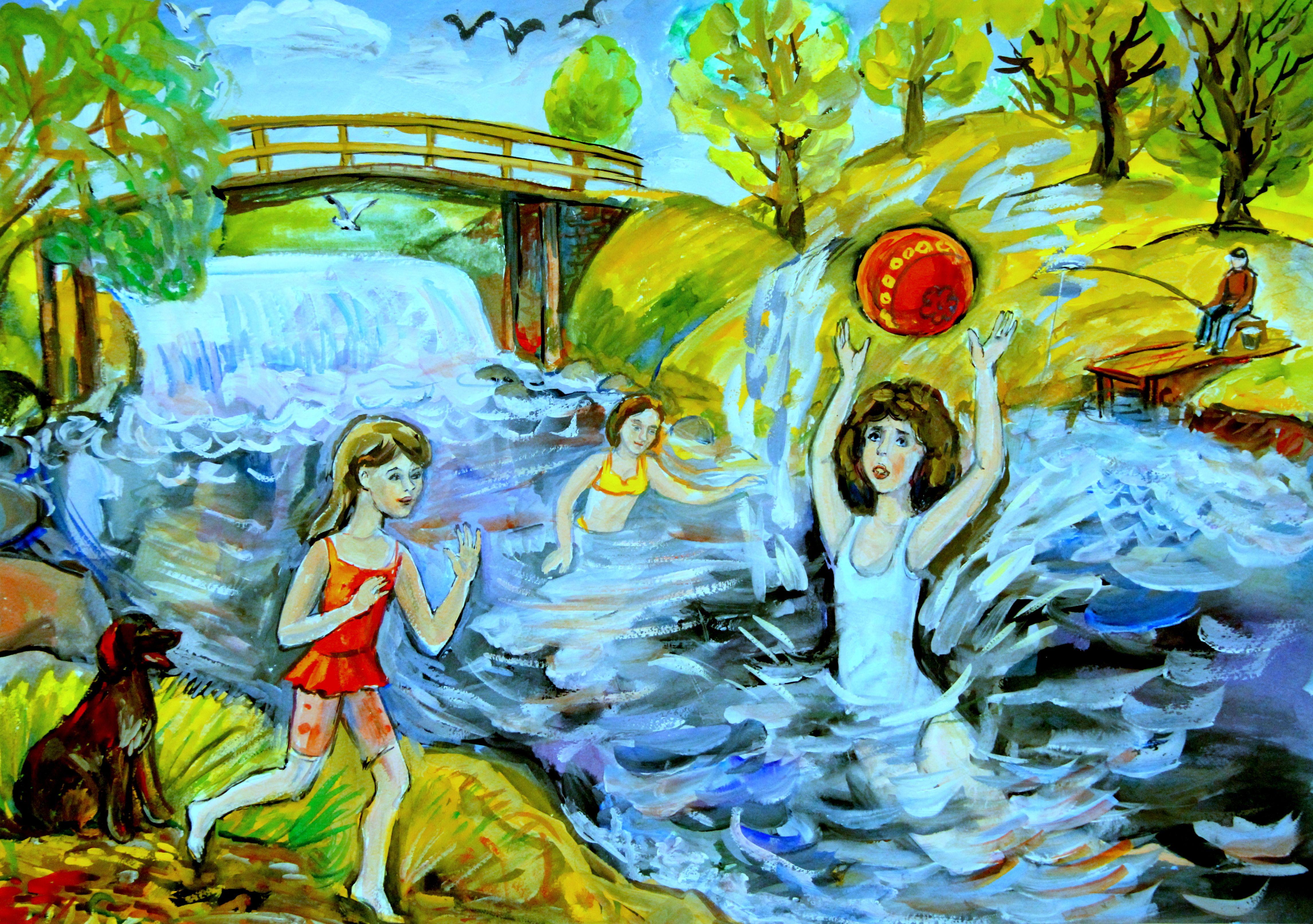 """""""Лето на реке Мга"""", Анхимова Владелена (9 лет)"""