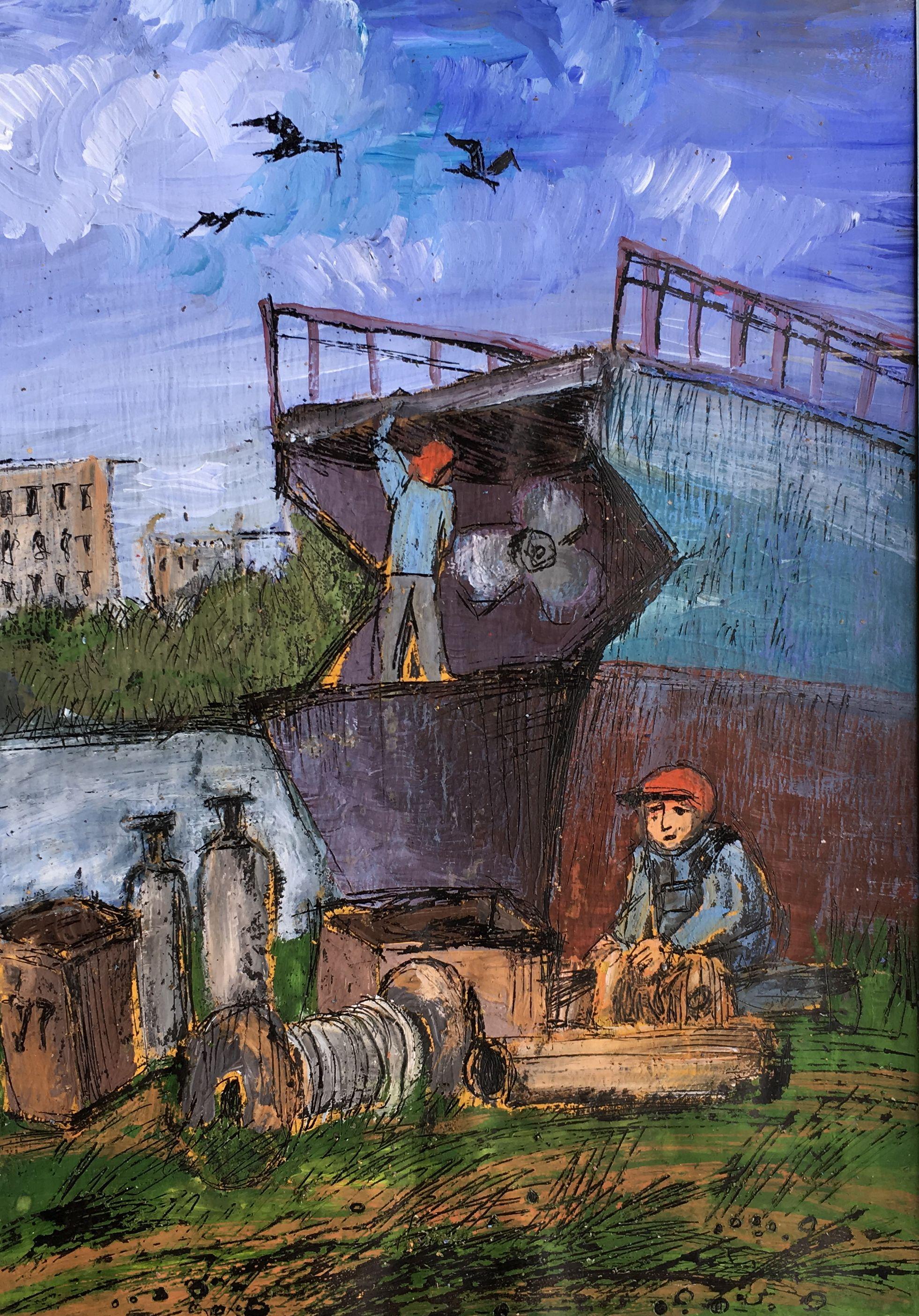 Красикова Анастасия. 13 лет. «Строительство коробля», воскография. Преподаватель [О. Д. Гоголева](/teacher/od-gogoleva)
