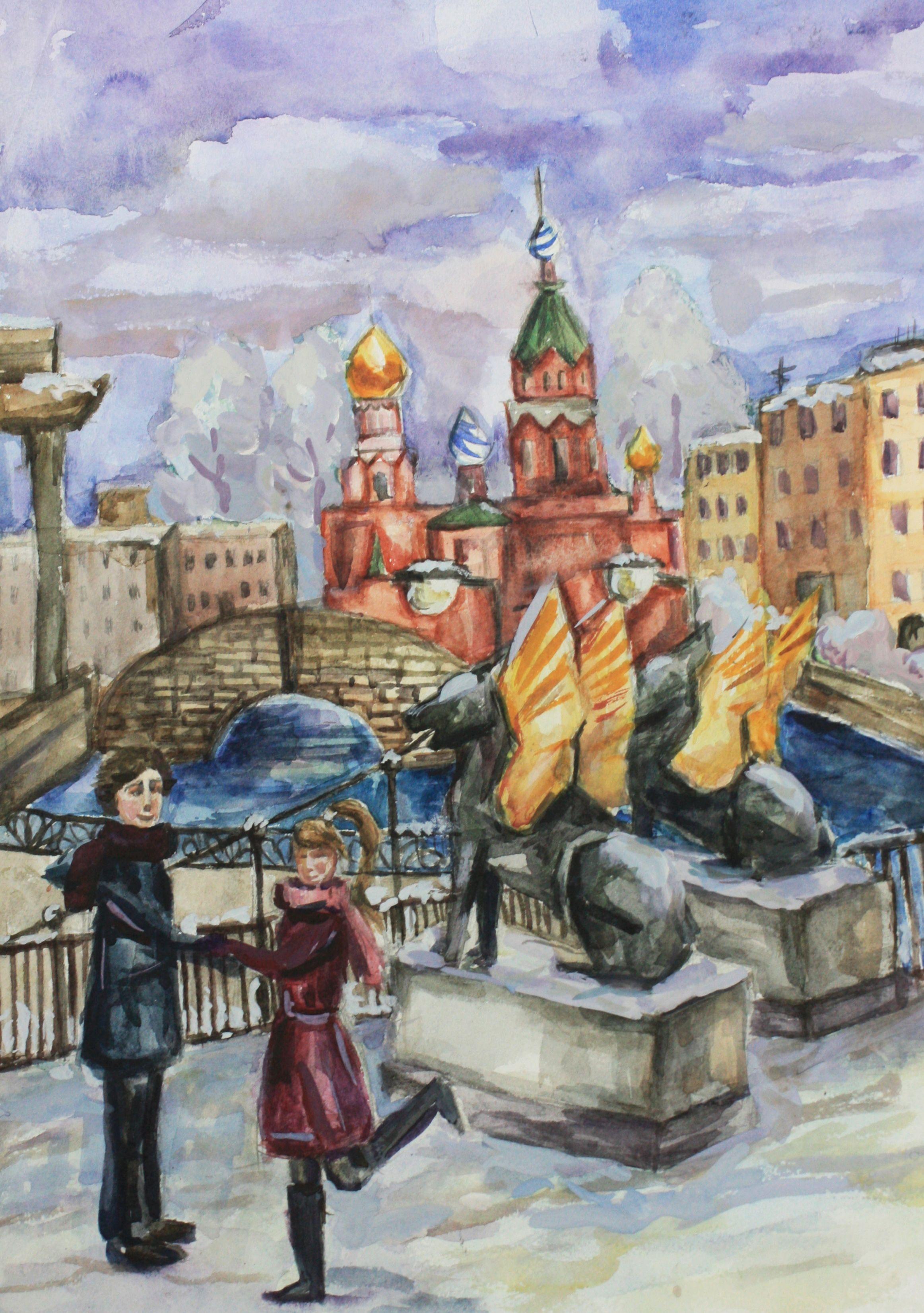 «Любимые места», Конакова Анастасия (12 лет), акварель, преп. Рец А. Ф.