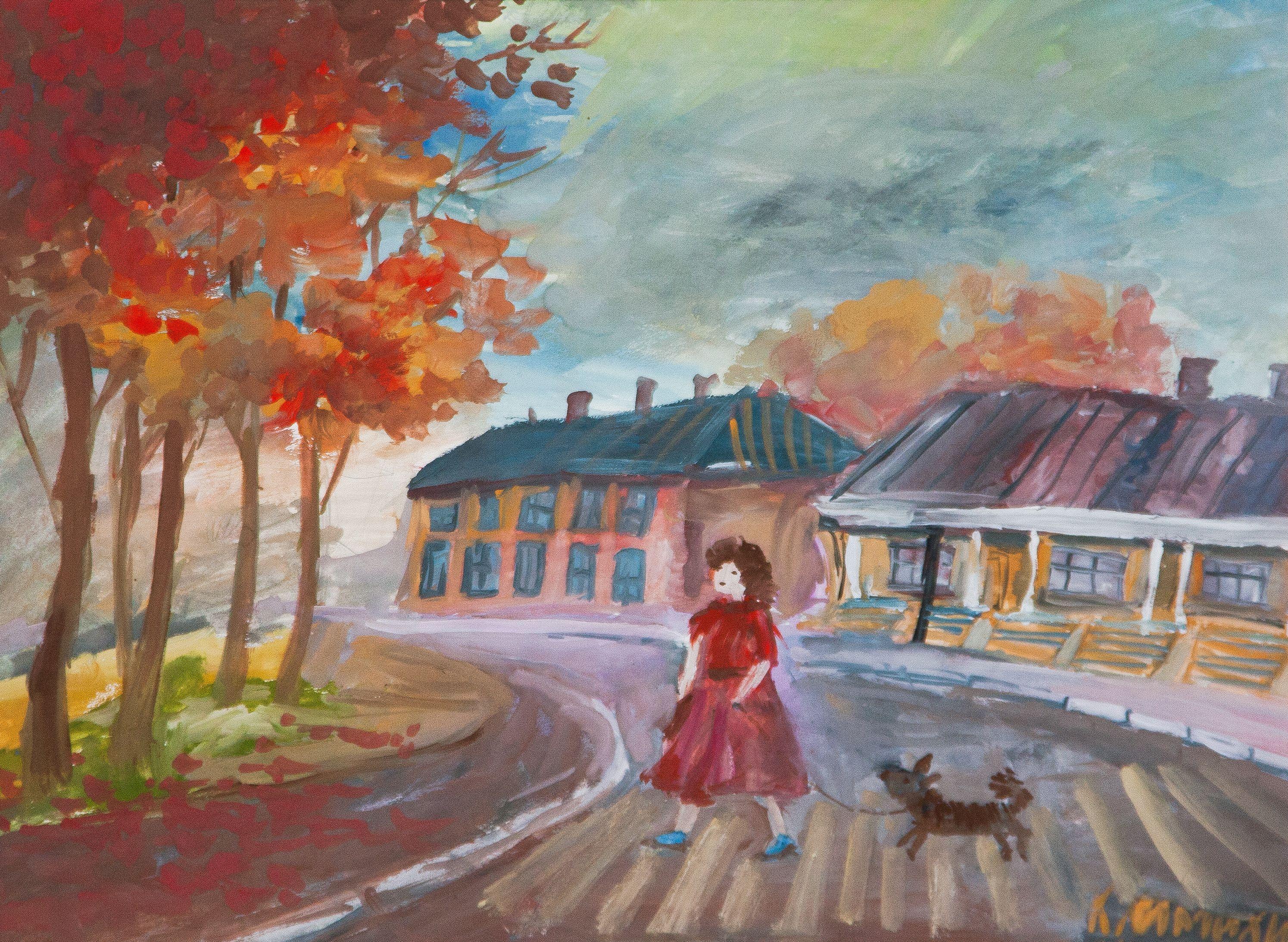 """Осенняя прогулка"", Климихина Милена (11 лет), преп. О. Д. Гоголева"