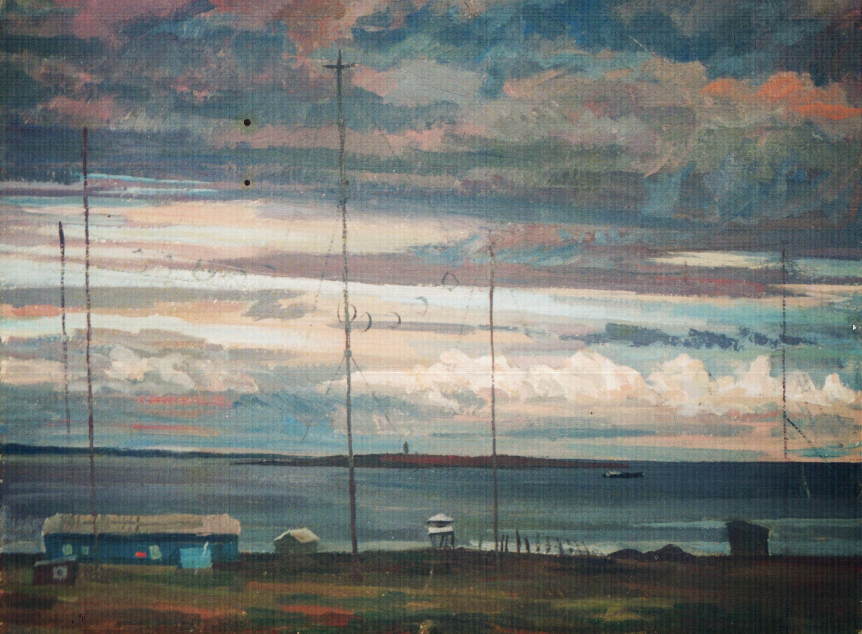 """""""Поселок Тикси. Метеостанция"""", В. А. Саржин, 1987 год"""