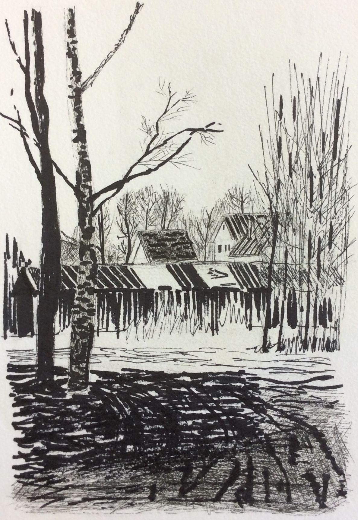 «Распутица», Владимирова Настя (12 лет), маркер, преп. Е. Ю. Тарасова